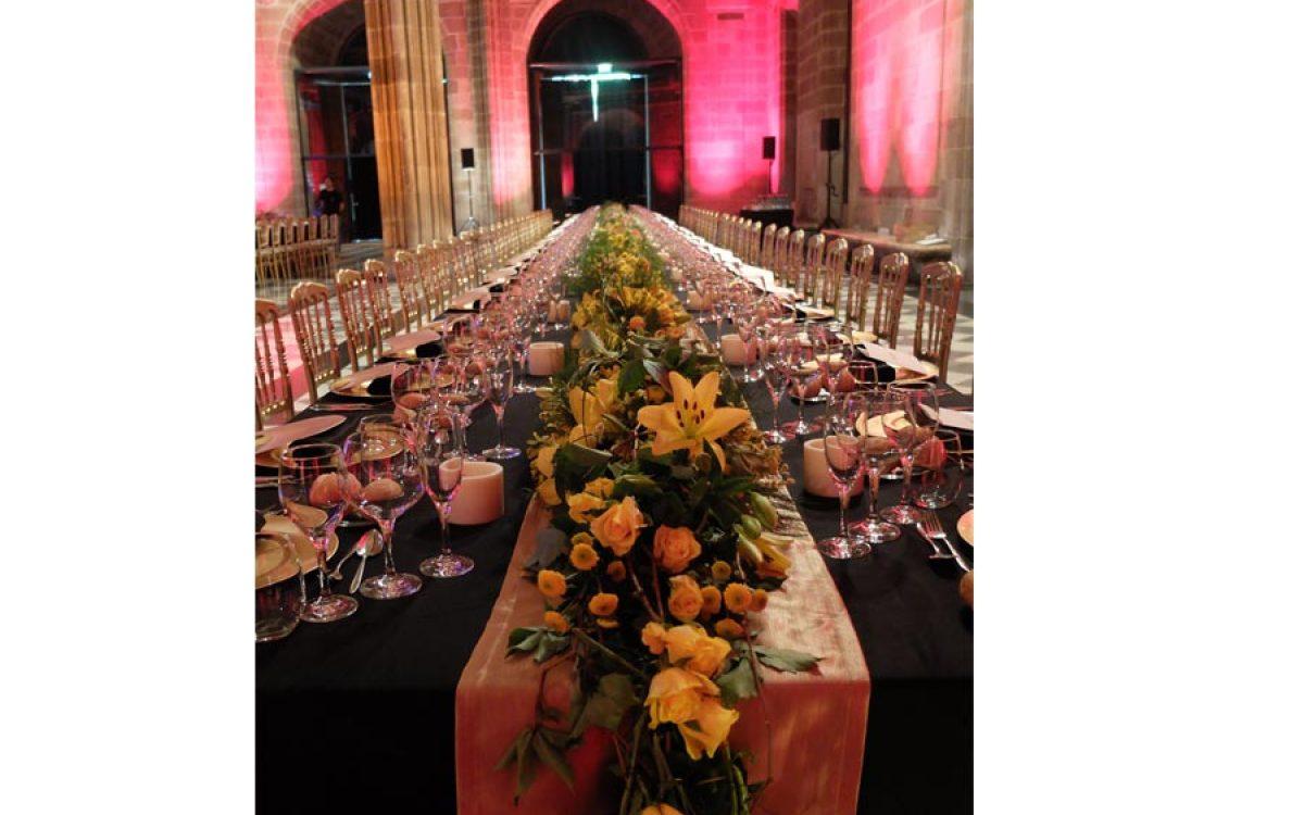 Decoración y puesta en escena de cena de empresa en la Llotja 03 | La Florería