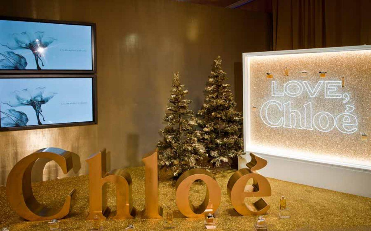 Decoración y puesta en escena corner del perfume Love de Chloé 00 | La Florería