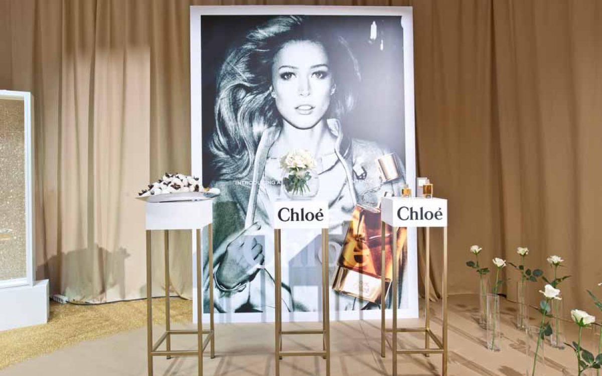 Decoración y puesta en escena corner del perfume Love de Chloé 05 | La Florería
