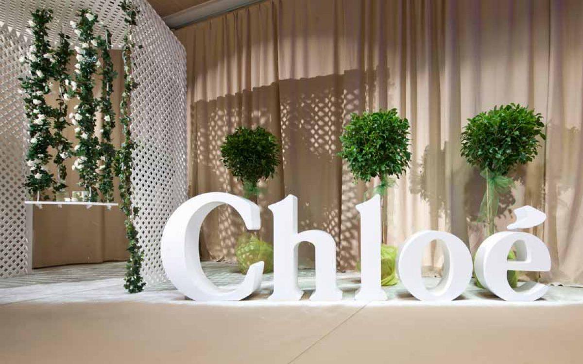 Decoración y puesta en escena corner del perfume Love de Chloé 02 | La Florería