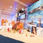 Decoración y puesta en escena del evento de productos Lancaster 01 |La Florería