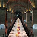 Centro de Mesa imperial en Caves Codorniu en Sant Sadurní d'Anoia | La Florería