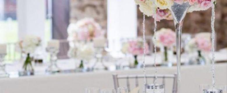 Centro de mesa clásico con copa Martini