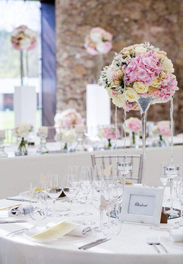 Classic centerpiece <br> with Martini glass