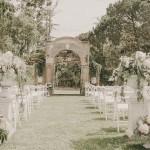 Ceremonia decoración copas clásicas realizadas por La Florería | La Florería