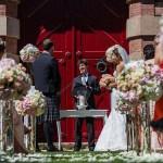 Ceremonia boda con decoración Escocesa realizado por La Florería