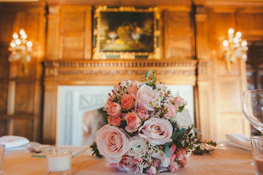 Ramo de novia en tres tonos de rosas