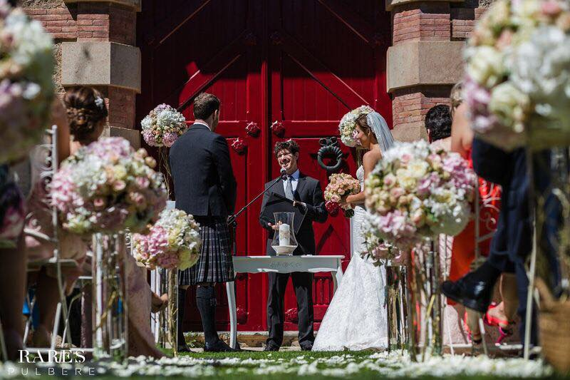 Scottish decoration wedding ceremony