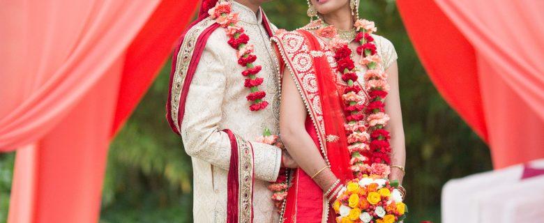 Ceremony Wedding Hindu <br>coral colours