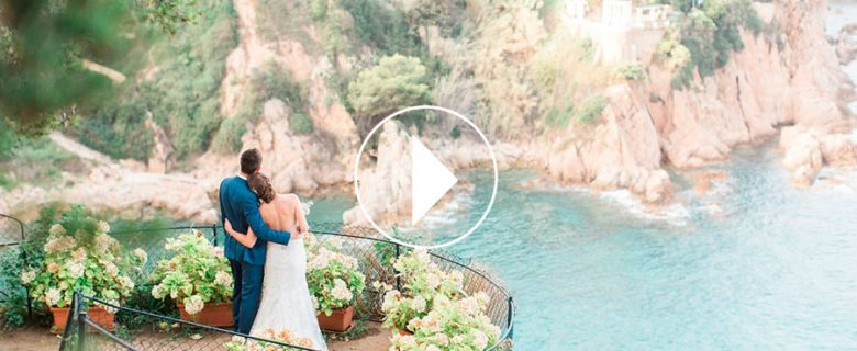 Video de boda con vistas al mar