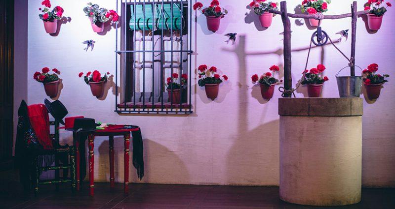 Decoración inspiración andaluza para evento de empresa en el Palauet Casades
