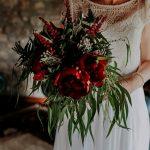 Ramo de novia con peonías rojas | La Floreria