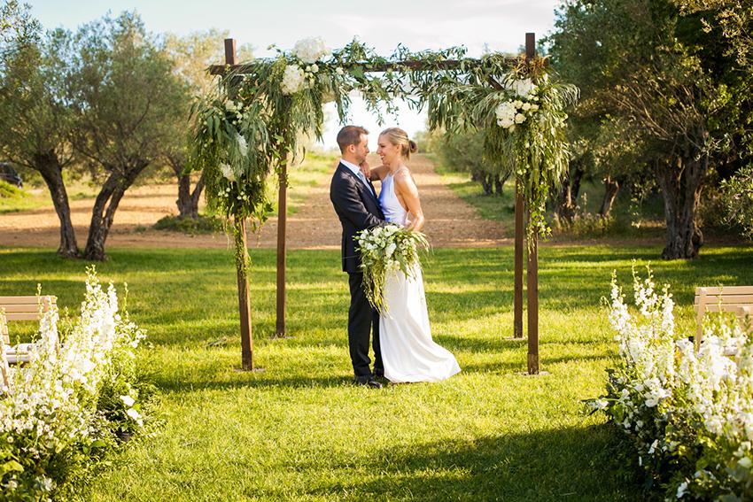Ceremonia de boda con decoración silvestre