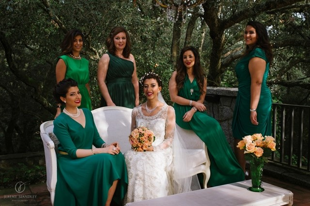 Damas de Honor en color verde | La Florería