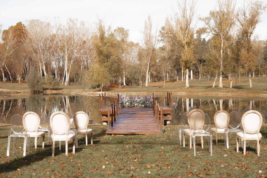Boda de invierno en el lago de La Farinera de Sant Lluís | La Florería